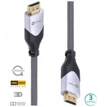 CABO HDMI 2.0 4K ULTRA HD 3D CONEXAO ETHERNET BLINDADO EM NYLON 3 METROS - H20B-3