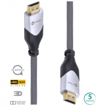 CABO HDMI 2.0 4K ULTRA HD 3D CONEXÃO ETHERNET BLINDADO EM NYLON 5 METROS - H20B-5 - 1