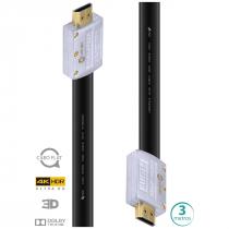 CABO HDMI 2.0 4K ULTRA HD 3D CONEXAO ETHERNET FLAT COM CONECTOR DESMONTAVEL 3 METROS - H20FL-3