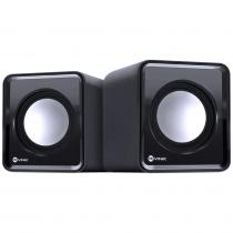 CAIXA DE SOM 2.0 USB 5V 2X 1W COM CONTROLADOR DE VOLUME - VS-01 - *VNK* - 1