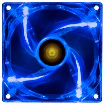 FAN/COOLER VX GAMING V.LIGHT 4 PONTOS DE LED 120X120 AZUL - VLIGHTB - 1