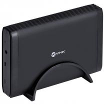 """CASE EXTERNO PARA HD 3.5"""" USB 3.0 COM CHAVE I/O TIPO C PARA USB PRETO - CH35-AC3"""