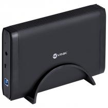 """CASE EXTERNO PARA HD 3.5"""" USB 3.0 TIPO B COM CHAVE I/O PRETO - CH35-30O - 1"""