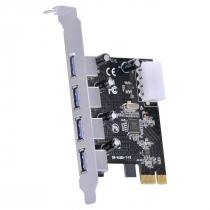 PLACA USB COM 4 USB 3.0 PCI EXPRESS PCI-E X1 - PU30-4