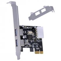 PLACA USB COM 2 USB 3.0 PCI EXPRESS PCI-E X1 COM LOW PROFILE INCLUSO - P2U30-LP