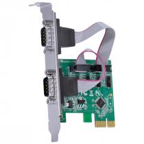 PLACA SERIAL COM 2 SAÍDAS RS232 RS485 RS422 PCI EXPRESS PCI-E X1 COM LOW PROFILE - P2IE-LP - 1