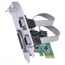 PLACA SERIAL 2 SAÍDAS RS232 RS485 RS422 + 1 SAÍDA PARALELA IEEE1284 PCI EXPRESS PCI-E X1 COM LOW PROFILE - P2IE1PR-LP - 1