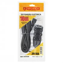 EXTENSÃO CABO PL 2X0,75 10 METROS PRETA 104 - 1