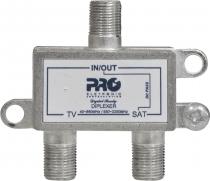 DIPLEXER VHF E UHF + SATÉLITE COM PASSAGEM DC PQDI-6500B