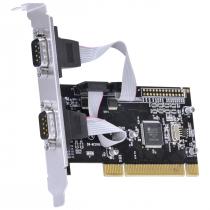 PLACA SERIAL COM 2 SAÍDAS RS232, RS485, RS422 IEEE1284 PCI X - P2IE-PCI - 1