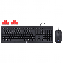 KIT TECLADO E MOUSE HP GAMER - KM100 BLACK