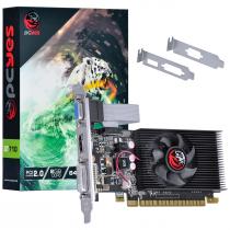 PLACA DE VIDEO NVIDIA GEFORCE GT 710 2GB DDR3 64 BITS COM KIT LOW PROFILE - SINGLE FAN - PA710GT6402D3LP - 1