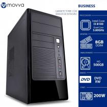 COMPUTADOR MERCURY INTEL I3 8100 3.6GHZ 8ª GER MEM 8GB DDR4 HD 500GB DVD-RW GABINETE TORRE COM SENSOR DE INTRUSAO 200W - 1