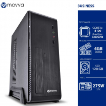 COMPUTADOR MERCURY INTEL I3 8100 3.6GHZ 8ª GER. MEM. 4GB SSD 120GB GABINETE SLIM FONTE 275W LINUX - MVMCSI3H310S1204 - 1