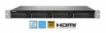 SERVIDOR DE DADOS NAS RACK 1U INTEL CORE I3-8100 QUADCORE 3.6 GHZ 4GB DDR4 FONTE REDUNDANTE - TVS-972XU-RP-I3-4G-US QNAP