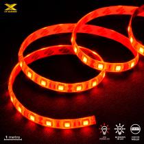 FITA DE LED VX GAMING VERMELHO COM CONEXÃO MOLEX 60 PONTOS DE LED 1 METRO - LVM1