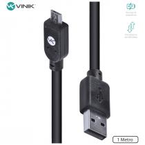 CABO USB X MICRO USB B 2.0 5 PINOS 1 METRO PRETO - MUSB-1 - 1