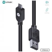 CABO USB X MICRO USB B 2.0 5 PINOS 2 METROS PRETO - MUSB-2 - 1