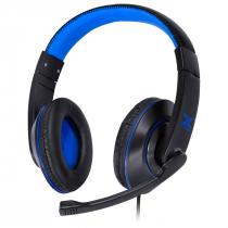 FONE HEADSET GAMER VX GAMING V BLADE II USB COM MICROFONE RETRÁTIL E AJUSTE DE HASTE PRETO COM AZUL - GH202 - 1