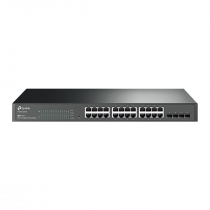 SWITCH GERENCIÁVEL L2 SMART GIGABIT C/ 24 P + 4 SLOTS SFP JETSTREAM T1600G-28TS (TL-SG2424) SMB - 1