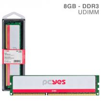 MEMORIA PCYES UDIMM 8GB DDR3 1600MHZ - PM081600D3 - 1