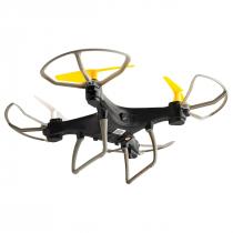 DRONE FUN SEM CAMERA PRETO/AZUL COM CONTROLE REMOTO ALCANCE DE 50 METROS ES253