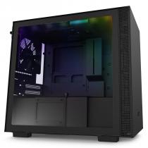 GABINETE MINI-ITX - H210I MATTE BLACK - COM CONTROLADORA DE FANS + FITA DE LED - CA-H210I-B1 - 1