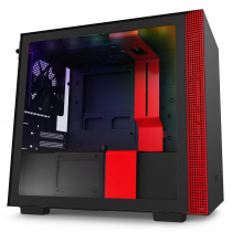GABINETE MINI-ITX - H210I MATTE BLACK/RED - COM CONTROLADORA DE FANS + FITA DE LED - CA-H210I-BR - 1