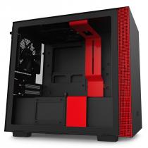 GABINETE MINI-ITX - H210 BLACK/RED - LATERAL COM VIDRO TEMPERADO - CA-H210B-BR - 1