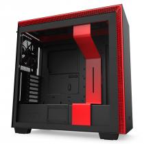 GABINETE ATX MID-TOWER - H710 BLACK/RED - LATERAL COM VIDRO TEMPERADO - CA-H710B-BR - 1