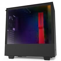 GABINETE ATX MID-TOWER - H510I MATTE BLACK/RED - COM CONTROLADORA DE FANS + 2 FITAS DE LED - CA-H510I-BR - 1