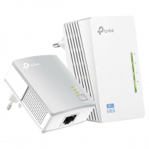 KIT EXTENSOR DE ALCANCE WIFI POWERLINE 300MBPS WIFI E AV 600MBPS TL-WPA4220KIT - 1
