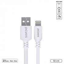 CABO USB A 2.0 PARA LIGHTNING PARA IPHONE COM CERTIFICADO MFI ORIGINAL 50CM BRANCO - PUALB-05 - 1