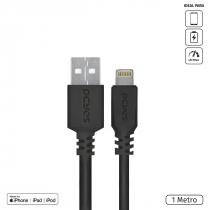 CABO PARA IPHONE ORIGINAL USB A 2.0 PARA LIGHTNING COM CERTIFICADO MFI 1 METROS PRETO - PUALP-01 - 1