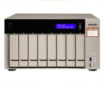 SERVIDOR DE DADOS NAS AMD QUAD-CORE 2.1GHZ - 8GB - 8 BAIAS SEM DISCO - TVS-873E-8G-US - 1