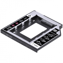 ADAPTADOR CADDY PARA HD OU SSD GAVETA DVD NOTEBOOK SATA 9.5MM AC-95 - 1