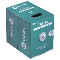 CABO LAN U/UTP CAT5E 24 AWG 4 PARES CAPA CMX  305M 100% COBRE BRANCO