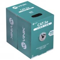 CABO LAN U/UTP CAT5E 24 AWG 4 PARES CAPA CMX  305M 100% COBRE PRETO