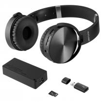 KIT MUSIC PLAY HEADPHONE BLUETOOTH SD/AUX/FM + POWER BANK 4000 MAH + LEITOR USB + MICRO SD 32GB C10  MC250 - 1