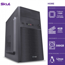 COMPUTADOR HOME H100 - CELERON DUAL CORE J1800 2.41GHZ 4GB DDR3 SODIMM HD 500GB HDMI/VGA FONTE 200W - 1
