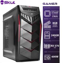 COMPUTADOR GAMER 5000 - I5 9400F 2.9GHZ 9ª GER. MEM. 8GB DDR4 SSD 240GB RX 570 4GB FONTE 600W - 1