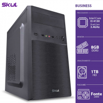 COMPUTADOR BUSINESS B300 - I3-4130 3.4GHZ 8GB DDR3 HD 1TB HDMI/VGA FONTE 200W - B41301T8