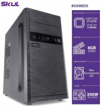 COMPUTADOR BUSINESS B700 - I7 4770 3.4GHZ 4ª GER MEM 8GB DDR3 SEM HD HDMI/VGA FONTE 300W PFC ATIVO - 1