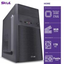 COMPUTADOR HOME H200 - PENTIUM DUAL CORE G5400 3.7GHZ MEM 8GB DDR4 HD 1TB HDMI/VGA FONTE 200W - 1