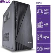 COMPUTADOR HOME H200 - ATHLON DUAL CORE 200GE 3.2GHZ 4GB DDR4 HD 500GB HDMI/VGA FONTE 300W - 1