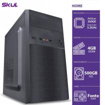 COMPUTADOR HOME H200 - ATHLON DUAL CORE 200GE 3.2GHZ 4GB DDR4 HD 500GB HDMI/VGA FONTE 200W - 1