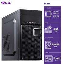 COMPUTADOR HOME H200 - PENTIUM DUAL CORE G4560 3.5GHZ 4GB DDR3 HD 500GB HDMI/VGA FONTE 200W