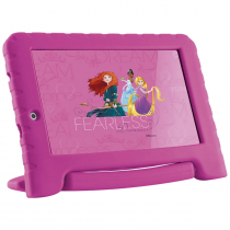 TABLET DISNEY PRINCESAS PLUS 16GB TELA 7'' QUAD CORE DUAL CÂMERA ROSA NB308 - 1