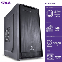 COMPUTADOR BUSINESS B300 - I3-7100 3.9GHZ 4GB DDR4 HD 500GB HDMI/VGA FONTE 200W