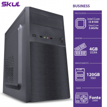 COMPUTADOR BUSINESS B300 - I3 8100 3.6GHZ MEM 4GB DDR4 SSD 120GB HDMI/VGA FONTE 200W - 1